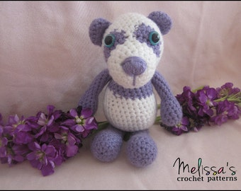 Crochet Pattern - Precious the Purple Panda and Dresses