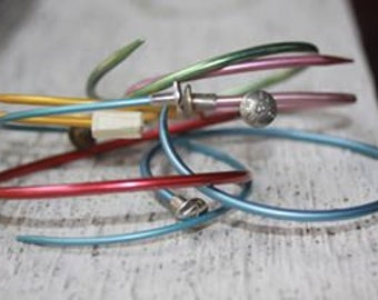 Knitting Needle Bangle Bracelet