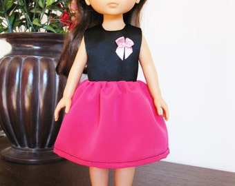 """Handmade Doll Clothes Dress fits 13"""" Corolle Les Cheries or 14"""" H4H G2G Dolls Handcraft 7"""