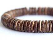 Men's Wood bracelet, Men's bracelet, Elastic bead bracelet, Tribal bracelet, Tropical bracelet, Wood bead bracelet