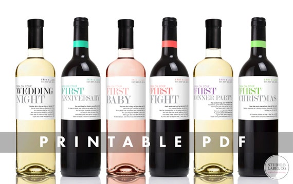 Like This Item?  Free Wine Bottle Label Templates