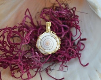 Dreamcatcher Wrapped Spiral Shell