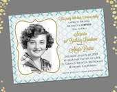 Qty. 25 Special Photo Surprise Birthday Party Invitations