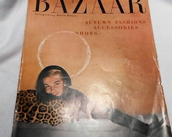 Harper's Bazaar September 1949 Fashion Magazine