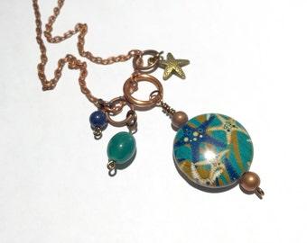 Starfish necklace, beach jewelry, starfish, beach necklace, beach, summer jewelry, summer