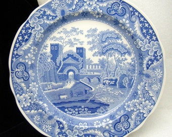 Blue Room Series Spode Castle Collector Plate Blue White