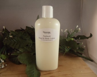 Patchouli Essential Oil Scented Hand and Body Lotion- Rich and Creamy -Super Moisturizing w/Jojoba Oil-Shea Butter