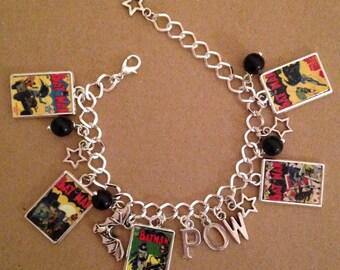 Batman Charm Bracelet - Handmade, Unique