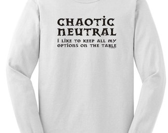 Chaotic Neutral Alignment Funny Long Sleeve T-Shirt 2400 - RW-144
