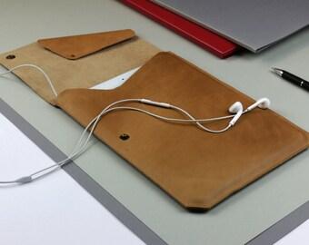 Sleeve for iPad mini /2/3/4 of vintage leather [L]