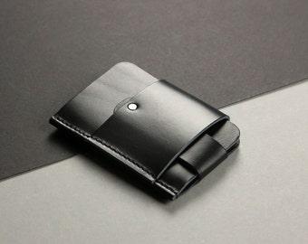 Gentleman slim wallet, leather black [BL]