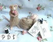 Needle Felting Mouse Tutorial PDF Instant Download Digital Tutorial How to Make Your Own Needle Felted Mouse Suitable For Beginners