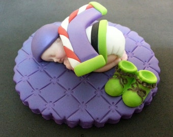 Fondant Buzz Lightyear baby cake topper