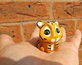 Tiger Polymer Clay Totem Animal