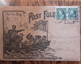 Wonderful Postcard Booklet from the New York Ohio Bay Postmark Dated 1922