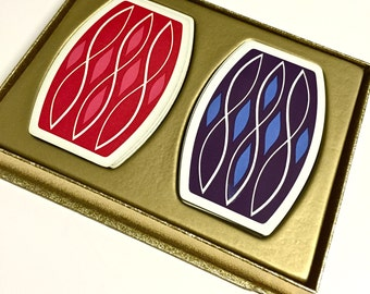 Vintage Retro Mid Century Modern Playing Cards by ESE Two Standard Decks in Original Box