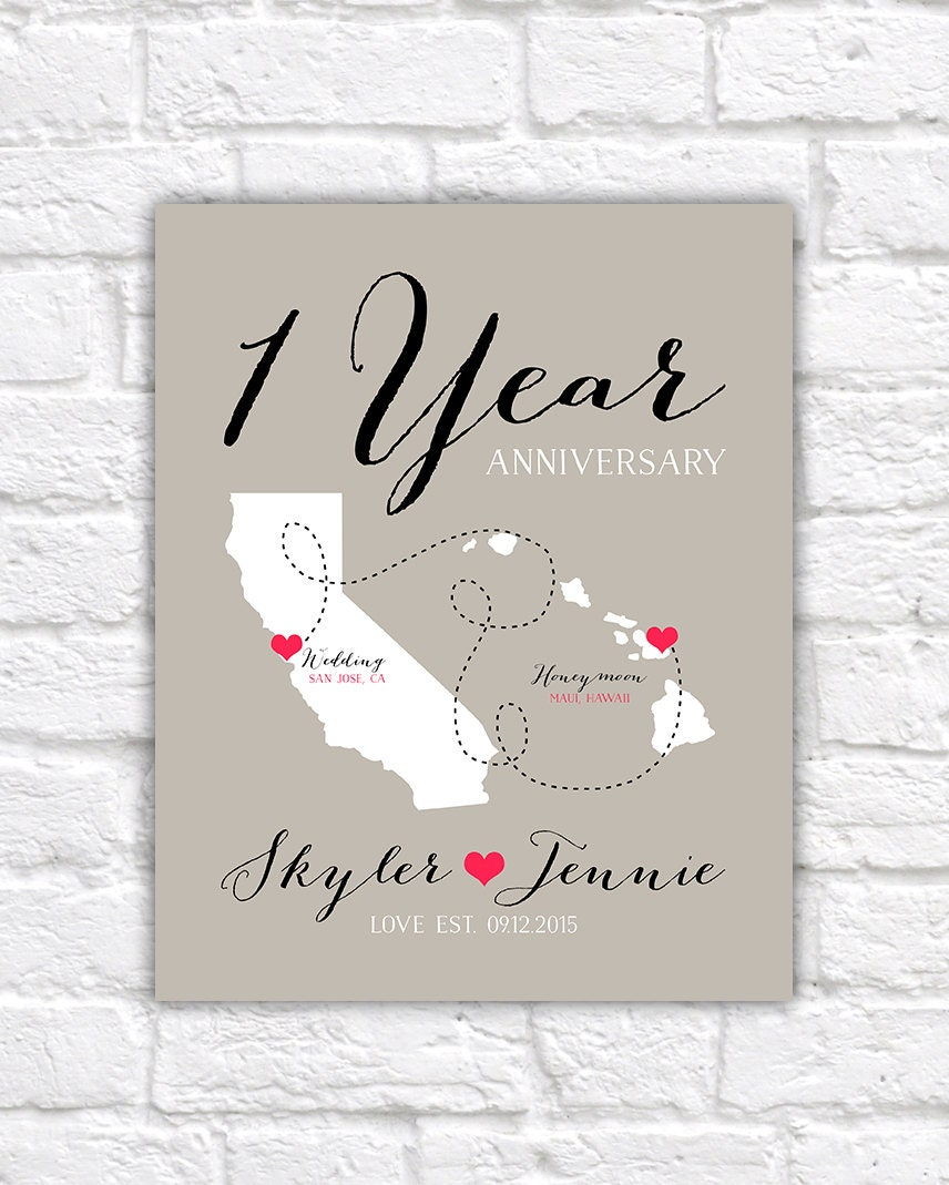 1 Year Anniversary Gift Uk : First Anniversary Gift Paper Gift 1 Year Together Wedding