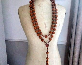 Antique Wooden Pilgrimage Rosary - Lourdes Souvenir