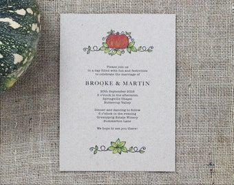 Earthy Wedding Invitation