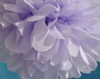 PURPLE MIST / 1 tissue paper pom pom / wedding decorations, birthday decor, baby shower, nursery decor, bridal shower, purple decorations
