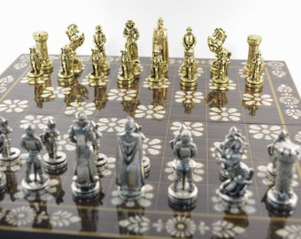 Medieval Chess Set/Wooden chess board (36X36)