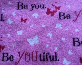 A be you tiful themed print fitted sheet