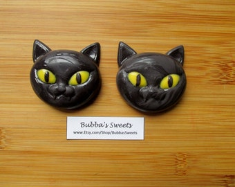 BLACK CAT Chocolate Covered Oreos (12)- Halloween Party/Trick or Treat