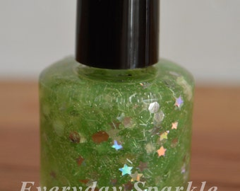 Second Star to the Right ~ Indie Handmade Nail Polish ~ 5 Free, Custom Blended Glitter Polish