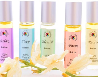 Aromatherapy | Perfume Bottles |  Stress Relief | Essential Oils | Natural fragrance | Blemish stick | Stocking Stuffer | Vegan