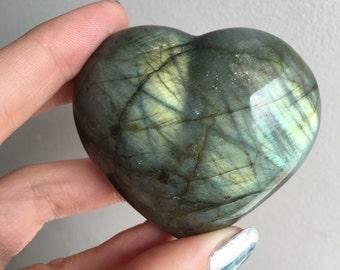 Labradorite Puffy Heart