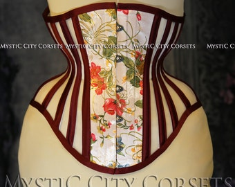 New MCC-38 satin/mesh Underbust tightlacing waist training corset MystiC City Corsets