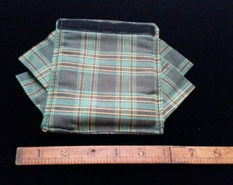 Longaberger Baskets Fabric Accessories Garter and Handle Gripper Traditions Green Plaid