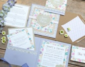 SAMPLE PACK Country Garden Floral Wedding Invitations