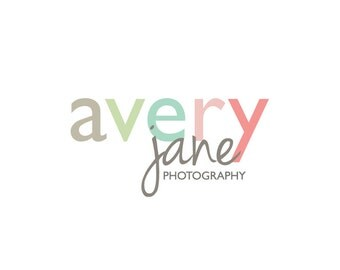 Premade Photography Logo and Watermark Design - 3 Font Typography Logo - Business Branding - Small Business Watermark Logo - 116