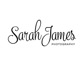Premade Typography Photography Logo and Watermark Design - Small Business Branding - Photography Watermark Logo - Premade Logo Design 169