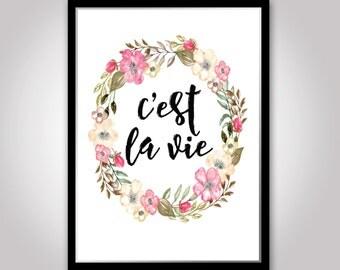 C'est La Vie INSTANT DOWNLOAD