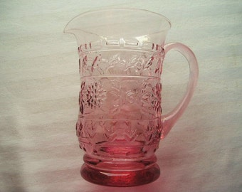 Vintage Pitcher|Rose Colored Pitcher|Home and Living|Dining and Entertaining|Glassware