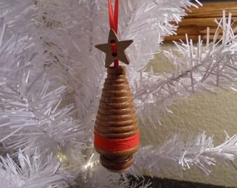 Wooden Bobbin Christmas Ornament, Christmas Tree Ornament, Wooden Bobbin, Christmas Gift, Ornament, Bobbin