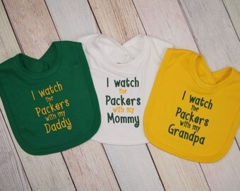 Green Bay Packers Baby Football Embroidered Bib - Packers Baby - Green Bay Packers Fan - Green Bay Packers Girl - Green Bay Packers Boy
