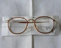 Vintage VALENTINO  Panto P3 Quadra Eyeglasses Frames  DESIGNER MOD V 376. Made in Italy. N O S