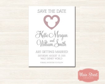 Mickey Heart Save the Date - Disney Wedding