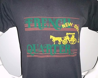 Vintage 1980's French Quarter New Orleans shirt t-shirt Large (0100) 50/50 80's