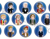 """Full Set Collections - Packs of PixelWho 1"""" Pinback Buttons (8bit)"""