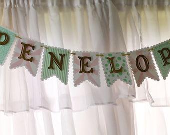 MADE TO ORDER Glitter Carousel Name Banner