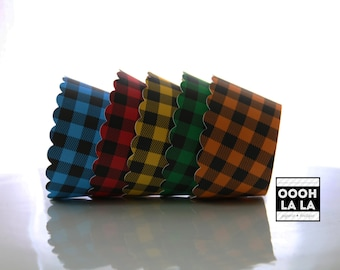 MADE TO ORDER Buffalo Plaid/Check Cupcake Wrappers- Set of 12