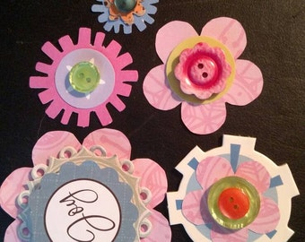 Scrapbook Embellishments, Flowers