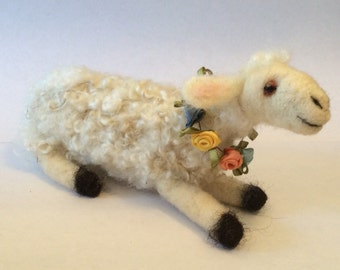 Wool Felted Lamb