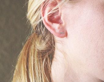 Tiny bar studs, bar studs, sterling silver, sterling silver studs, studs, stud earrings, tiny studs, minimalist jewelry