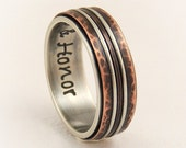 Unique engagement ring - 8mm silver copper ring,wedding band ring,anniversary ring,anniversary gifts,men wedding band,rustic wedding ring