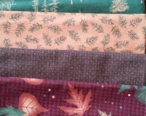 Flannel Fat Quarter Bundle Holly Taylor Timber Trail Flannels Beautiful Fall Woodsy Moda Flannel SUPER SALE!